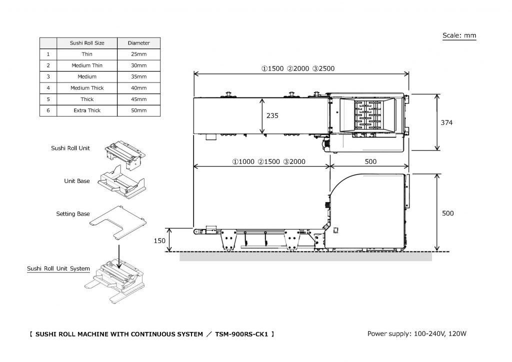TSM-900RS-CK1 Roll Sushi Machine | Sushi Robot, Sushi Machine TOP